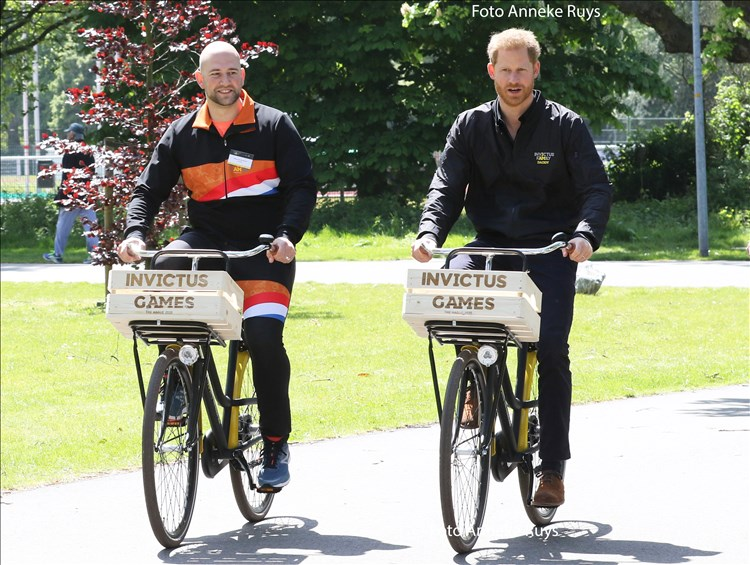 Prins Harry in Den Haag voor de Invictus Games